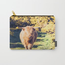 Lovely Scotland Highland Cow (Scottish Highland Cattle) is walking in the sun Carry-All Pouch