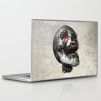 cyberpunk Laptop & iPad Skins featuring No Laughing Matter (background option) by Obvious Warrior