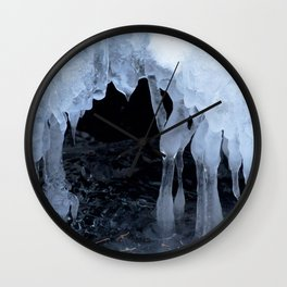 Watercolor Ice 54, Icy Cave of the Dancing Ladies Wall Clock