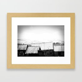 from the rooftops Framed Art Print