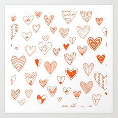 fun hearts Art Print