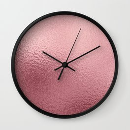 Pure Rose Gold Pink Wall Clock