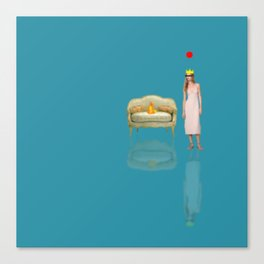 You Are Here, 15 (Couch On Fire) Canvas Print
