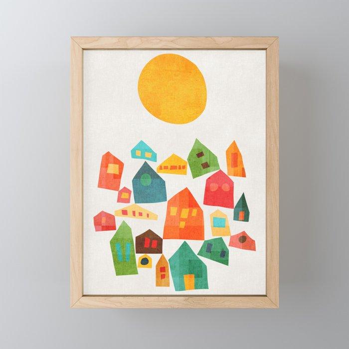 Looking at the same sun Framed Mini Art Print