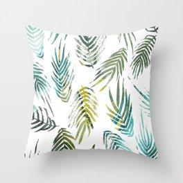 Tropic of Conversation Botanical Print Throw Pillow