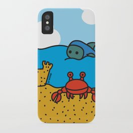 Fish and Crab iPhone Case