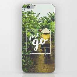 Just Go iPhone Skin