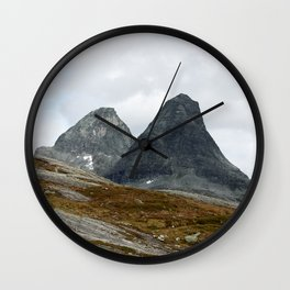 We Stand Together (Two Mountains, Norway) Wall Clock
