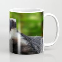 badger Mugs featuring Badger by Julie Hoddinott