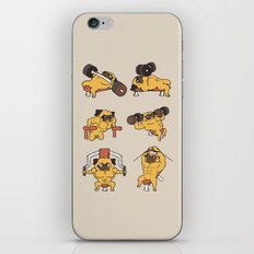Chest Day with The Pug iPhone & iPod Skin