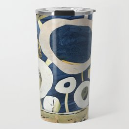 Greek Flowers Travel Mug