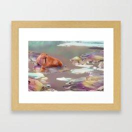 Swalrus: Sweet potato x Walrus Framed Art Print