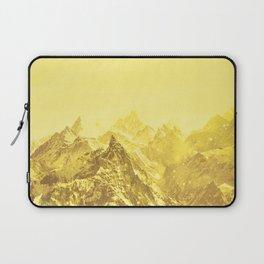 Mountains Yellow Laptop Sleeve