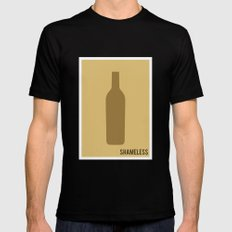 Shameless - Minimalist Black MEDIUM Mens Fitted Tee