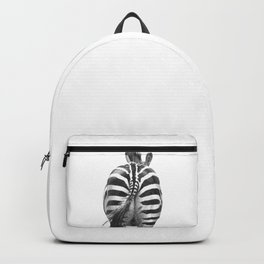 Black and White Zebra Tail Backpack