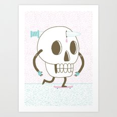 As I Skate through the Valley of Death Art Print