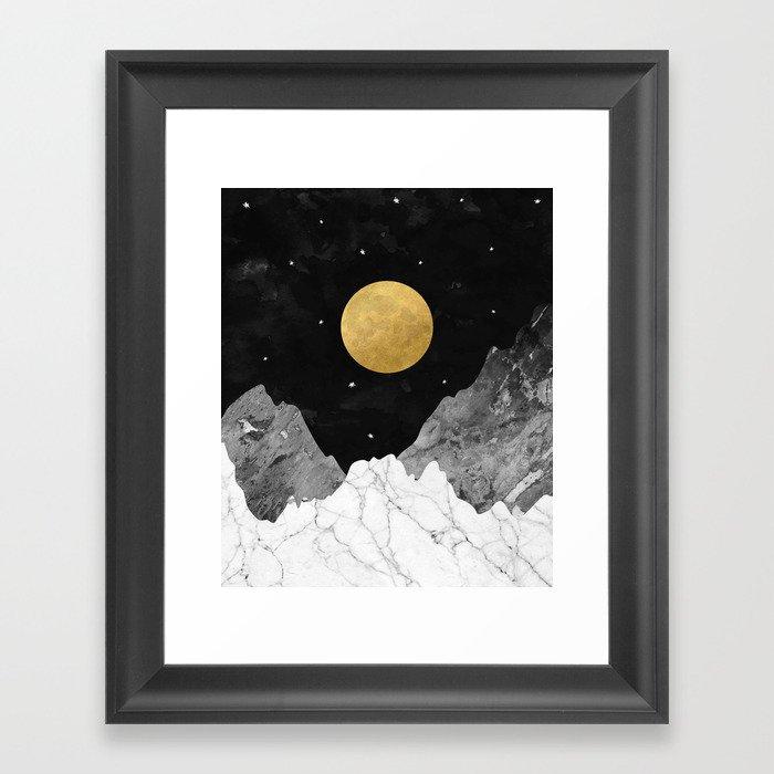 Moon and Stars Gerahmter Kunstdruck