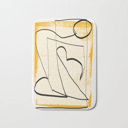 Abstract line art 4 Bath Mat