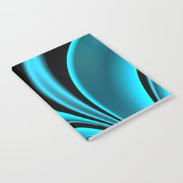 Abstract Fractal Colorways 02 Pacific Blue Notebook