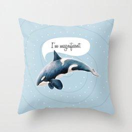 orcinus orca Throw Pillow