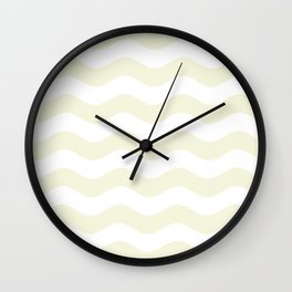 Wavy Stripes (Beige/White) Wall Clock