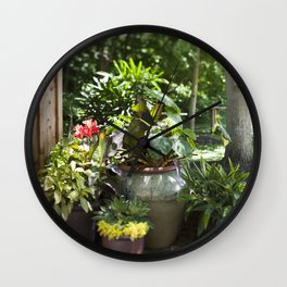 Container Gardening Done Right Wall Clock