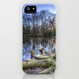 The English Morning Frosty Pond iPhone Case