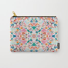 Colorful Crystal Terrazzo Tile Carry-All Pouch
