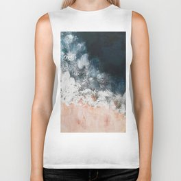 Aerial ocean, coast,  beach, waves, sea, prints, project Biker Tank