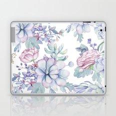 Pretty Blue Pink Succulents Garden Laptop & iPad Skin