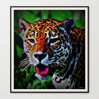 jaguar Canvas Prints featuring Jaguar by elkart51
