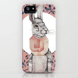 Loony Rabbit iPhone Case