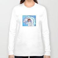chihiro Long Sleeve T-shirts featuring Spirited Away Chihiro and Haku by Kimberly Castello