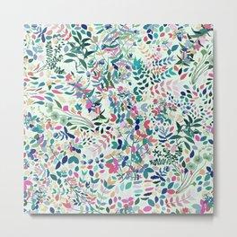 Midsummer Botanicals / Colorful Floral Garden Metal Print