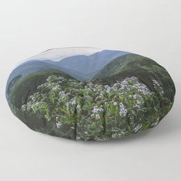 Smoky Mountain Wildflower Adventure - Nature Photography Floor Pillow