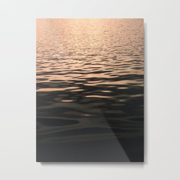 Liquid Sunset Metal Print
