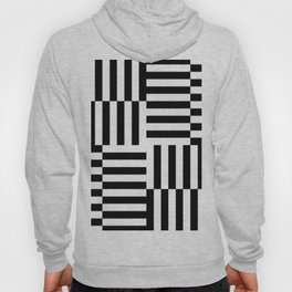 Geometrical abstract black white stripes pattern Hoody