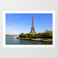 The Eiffel Tower - Paris Art Print