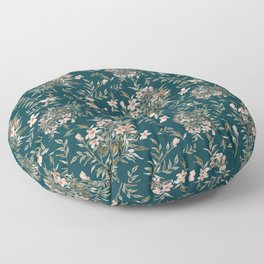 Small Floral Branch Floor Pillow