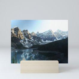 Scenic Snow Capped Mountains Mini Art Print