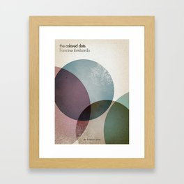 The Colored Dots Framed Art Print