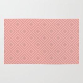 Blush Pink Modern Geometric Pattern Rug