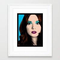 amy pond Framed Art Prints featuring Amy Pond Pop Art by Rachael Elizabeth