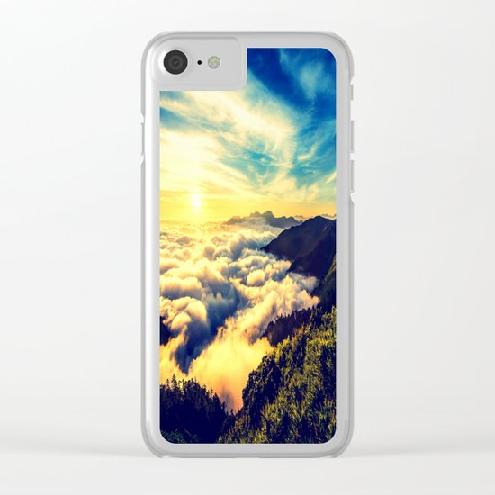 Mountains. Clear iPhone Case
