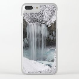 Tamanawas Falls in Winter Clear iPhone Case
