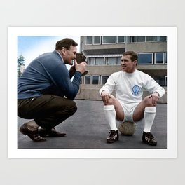 Bobby Collins and Don Revie Art Print