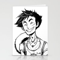luffy Stationery Cards featuring Luffy by Ida Dobnik