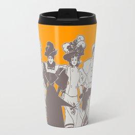Vintage Ladies APRICOT / Vintage illustration redrawn and repurposed Travel Mug