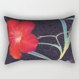 Breezy Rustic Red Flower Rectangular Pillow