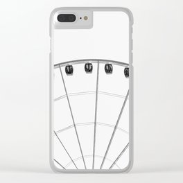 The wheel back white 1 Clear iPhone Case
